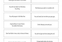 Fortune Cookie Quotes Printable