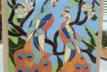 fundo em mosaico