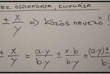 MATEMATIKA / MATHS / Matematika - magyarázó képletek Maths - formulas of explanation