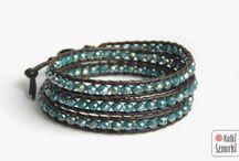 Kulki Sznurki / Sznurki -handmade by Kulki Sznurki Wrap bracelets on natural leather.