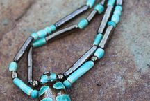 My ceramic beetle necklaces