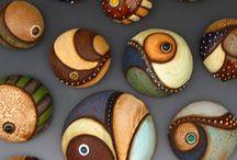Рисунки на камнях / Рисунки на камешках