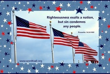 USA, Red, White and Blue - Bible Verse / USA, Red, White and Blue - Bible Verses, July 4, patriotism