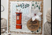 Julkort och stämplar / kort och stämplar