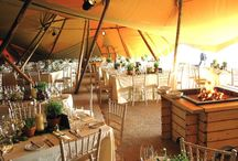 Marquees and Tipis / If you want a wedding for more than a hundred, you may need a marquee or tipi in addition to the West Wing.  Here are some great ideas