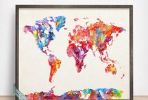 World Map Prints / World Map Prints