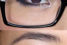 Maquillar los ojos con gafas
