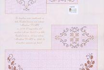 Punto croce bordi 1* / Bordure per asciugamani lenzuola o altro 1