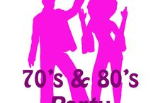 Themafeest 70's & 80's Party / Back to the seventies.... Disco, flower power, glitter and peace !