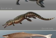 Prehistoric animals, underwater things, mythological creatures