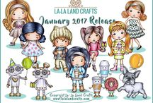 LLLC January 2017 New Release / La-La Land Crafts January 2017 New Release Stamps and Dies