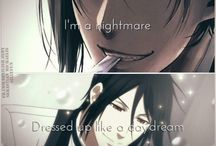 Black Butler❤️ / Mey-Rin and Ciel are my favorite characters but I do love Sebastian the most thoe I ship him with Ciel. (Such mass shipper)