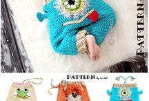 Crochet long pants