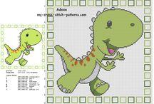 Cross Stitch - Dino