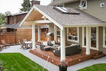 Outdoor covered decks