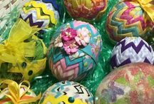 Quilted Easter Eggs