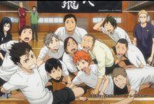 Haikyuu!! / Hinataa :3 Kageyama >:D Nishinoya c: Karasuno, Nekoma & Seijo