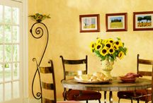 Tuscan Colors / Tuscan colors pretty much are the hues and shades representative of Tuscany.  When choosing Tuscan colors, go for sage green, rusty reds, cream colors, golden yellows...   This palette is provides the feel of the sun-filled Tuscany country side...  Some Tuscan home decorating ideas include choosing Tuscan colors that are bright...  Bright blues, reds and yellows... A nice Deruta ceramic piece can give you great ideas when selecting Tuscan colors.