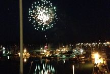 Fourth of July 2013 / The fireworks were great from the roof deck of the Pacific Maritime & Heritage Center.
