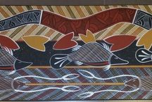 Yilamara Aboriginal Art / Aboriginal Art by Russell Yilamara Brown from Groote Eylandt,  NT