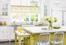 Mutfak / Beyaz ve pastel