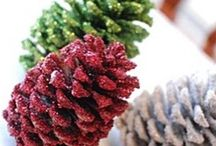 Pinecones art for x-mas