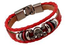 Beads Leather Bracelets / Beads Leather Bracelets, Charm Bracelets