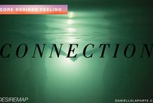 CDF: Connection / con·nec·tion / kə-ˈnek-shən: the act of connecting; the state of being connected; a relation of personal intimacy / by Ashley