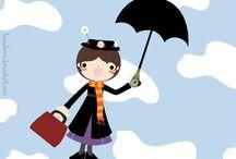 Mary Poppins / МЭРИ ПОППИНС (Mary Poppins) - героиня сказочной повести Памелы Линден.Трэверс «Мэри Поппинс» (1934), а также четырех сборников рассказов, последний из которых появился в 1963 г.