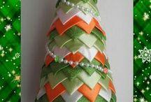 Vánoční stromek patchwork