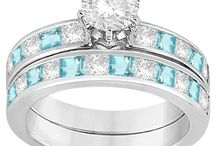 Aquamarine Engagement Rings / Aquamarine represents the youth and happiness. Therefore, undoubtedly Aquamarine offers some of  the best engagement rings. Featuring  aquamarine stone to bring peace and happiness in your upcoming life. Feel confident and express your love by gifting.  / by Allurez