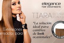 TIARA, EXTENSIONES CO HILO / La nueva Tiara de Elegance Hair Extensions también conocida como Extensión con Hilo, está pensada para otorgar longitud y volúmen a tu melena.  El hilo elástico incorporado se ajusta a la cabeza de manera rápida, sencilla y muy segura y ¡En tan sólo 20 segundos!