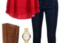 red top outfit