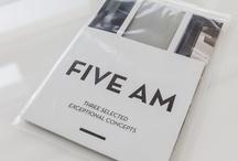 Graphic design . poster Five Am — Interieurarchitecten / Self-promoting poster