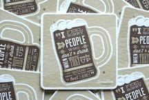 Pretty Coasters / Inspiration for #coasters #letterpress #graphicdesign