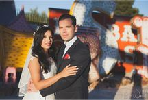 Las Vegas Wedding - Gemma & Gavin / A beautiful couple that decided to get married in Las Vegas! We did the majority of their bridal portraits at the Neon Museum, then headed to the famous Las Vegas strip for photo's at the most famous spots in Vegas including; The Bellagio Fountains, The Venetian & The Las Vegas Sign!