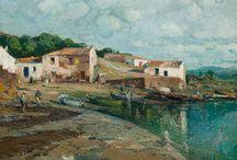 Cadaqués, Port Lligat. / Eliseo Meifrén Roig. Pinturas al óleo de Port Lligat, Cadaqués.