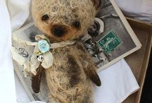 Jointed animals & patterns / Vintage style bears & other cuties