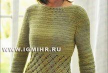 Swetry na szydełku