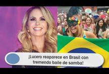 ¡Lucero reaparece en Brasil con tremendo baile de samba!