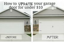 Smart idea for your garage door / by Marilyn Flores