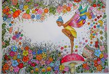 Mandala met kleurvoorbeelden