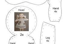 Bambole e animali di stoffa