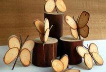 Deko mit Holzscheiben
