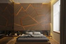 Walls with wood designs to decorate rooms