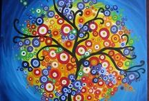 alberi dipinti