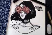 lápiz y pencil negro