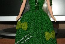 Barbie green crochet  Christmas  dress