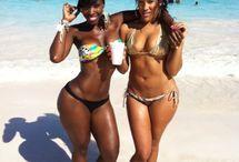 Black women with  beautiful body shape