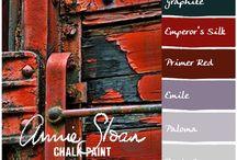 PALETTE: Annie Sloan, Benjamin Moore & others paint colors / Colores, armonías y contrastes...colores e imágenes de inspiración!!!!